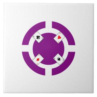 Poker Chip - Purple Tiles