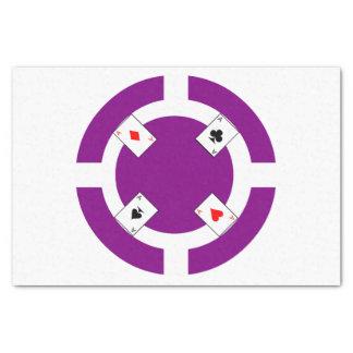 Poker Chip - Purple Tissue Paper