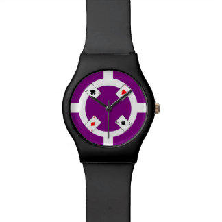 Poker Chip - Purple Watch