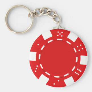 poker chip red keychain