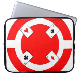 Poker Chip - Red Laptop Sleeve
