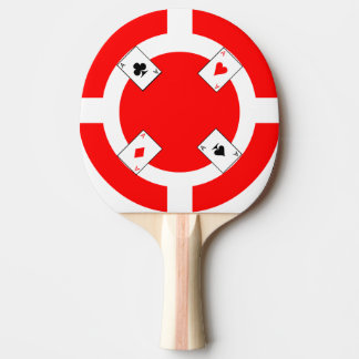 Poker Chip - Red Ping Pong Paddle