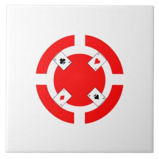 Poker Chip - Red Tile