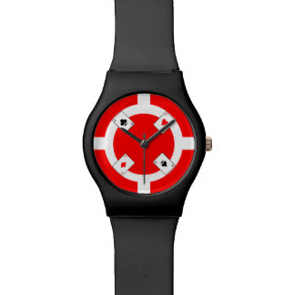 Poker Chip - Red Watch