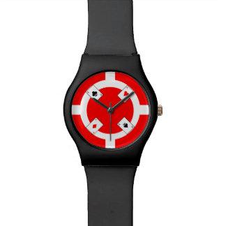 Poker Chip - Red Wristwatch