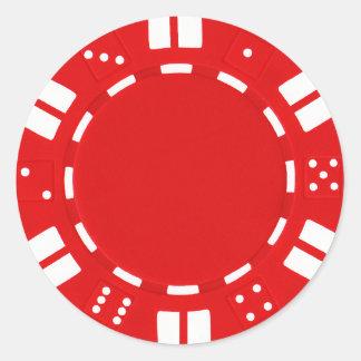poker chip sticker