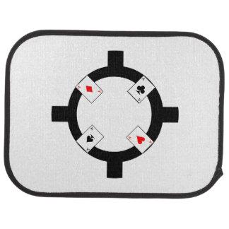 Poker Chip - White Car Carpet