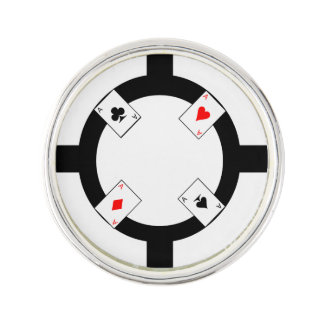 Poker Chip - White Lapel Pin