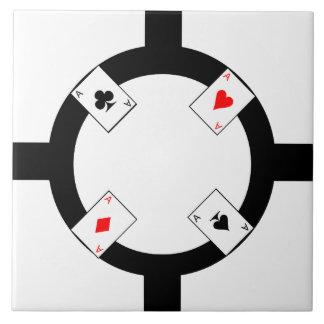 Poker Chip - White Tile