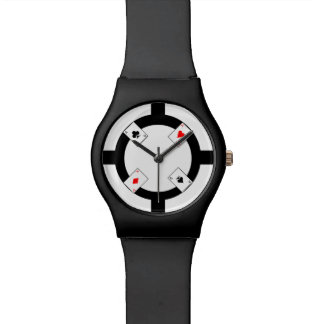Poker Chip - White Wrist Watch