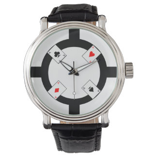 Poker Chip - White Wrist Watches
