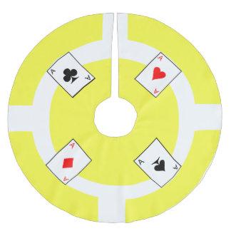 Poker Chip - Yellow Brushed Polyester Tree Skirt