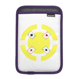 Poker Chip - Yellow Sleeve For iPad Mini