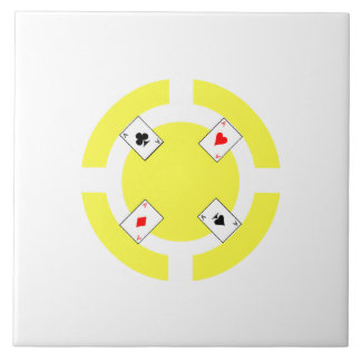 Poker Chip - Yellow Tile