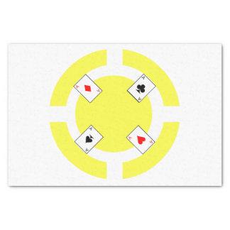 Poker Chip - Yellow Tissue Paper