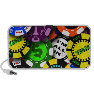Poker Chips Collage Portable Speakers