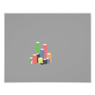 poker chips photographic print