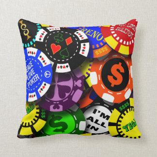Poker Chips Throw Pillow