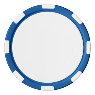 Poker Chips w/ Blue Striped Edge