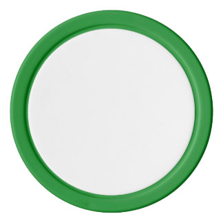 Poker Chips w/ Green Solid Edge