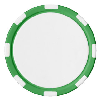 Poker Chips w/ Green Striped Edge