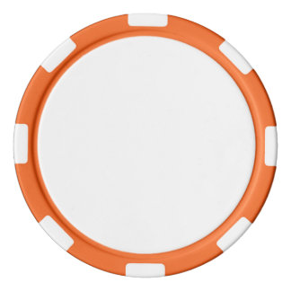 Poker Chips w/ Orange Striped Edge