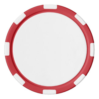 Poker Chips w/ Red Striped Edge