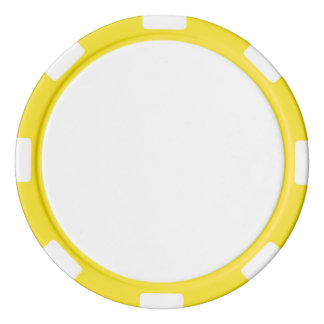 Poker Chips w/ Yellow Striped Edge