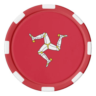Poker chips with Isle of Man Flag, United Kingdom