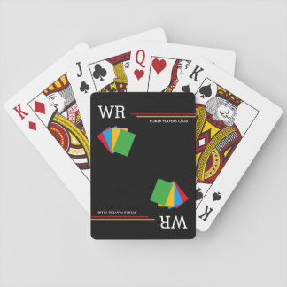 poker-club personalized black playing cards