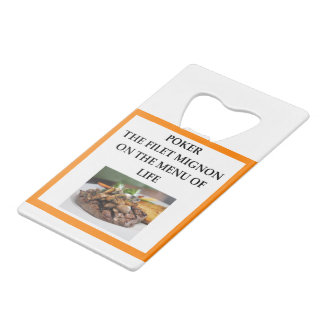 POKER CREDIT CARD BOTTLE OPENER