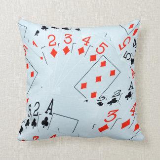 Poker, Diamonds And Clubs, Throw Cshion Throw Pillow