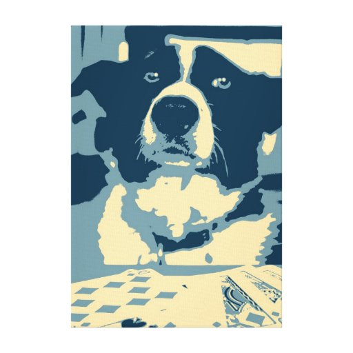 Poker Dog Canvas Print