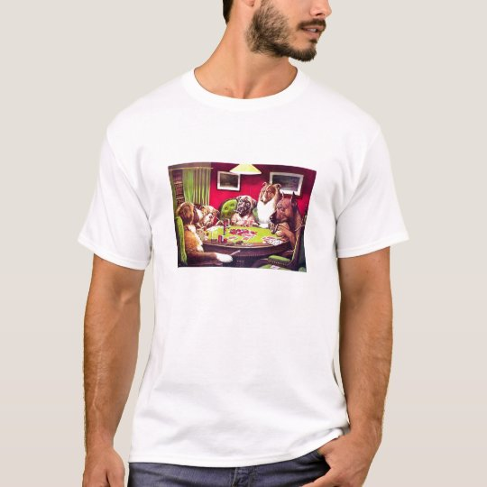 POKER DOGS by C.M. Coolidge - Customized T-Shirt