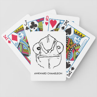 Poker Face Awkward Chameleon Playing Cards