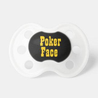 Poker Face Funny Baby Pacifier Dummy Binkie