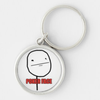 Poker Face Keychain