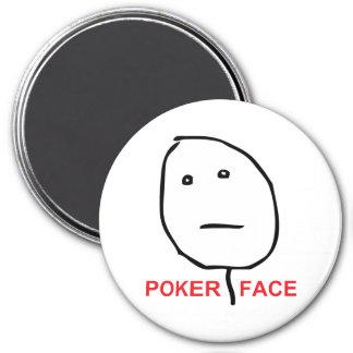 Poker Face Rage Face Meme 3 Inch Round Magnet