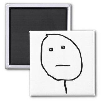 Poker Face Rage Face Meme Magnets