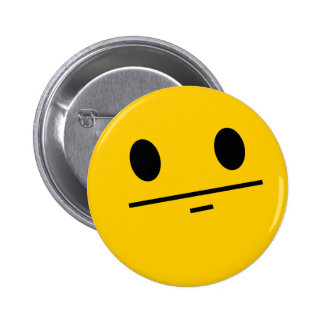 Poker Face Smiley 2 Inch Round Button
