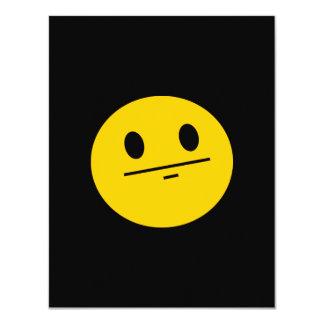 "Poker Face Smiley face 4.25"" X 5.5"" Invitation Card"