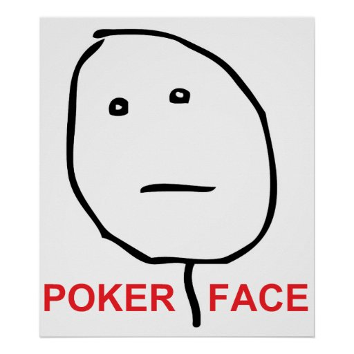 Poker Face (text) Poster