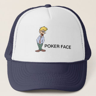 POKER FACE TRUCKER HAT
