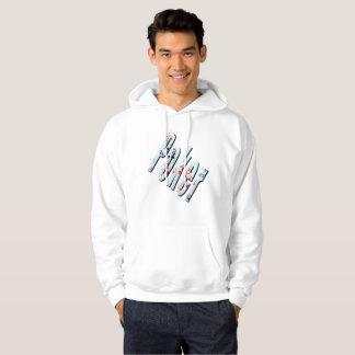 Poker Flush Dimensional Logo Mens White Hoodie