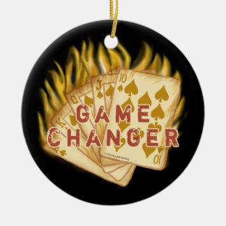 Poker Game Changer custom name Ceramic Ornament