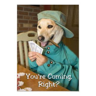 Poker Game Invitation  (Dog)
