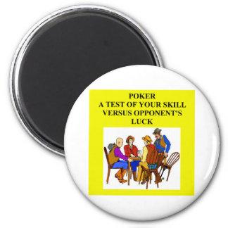 poker game player joke magnet