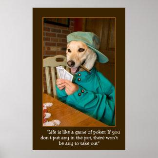 Poker Game POSTER  (Dog Dealing Cards)