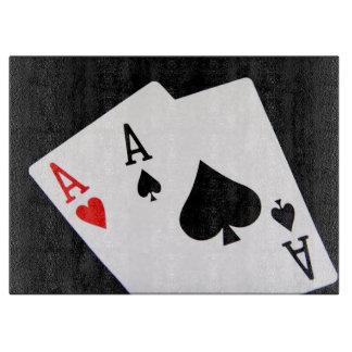 Poker Glass Cutting Board