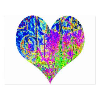 Poker Graffiti Heart Postcard